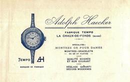 Adolph Haecker - Fabrique Tempo La Chaux-de-Fond - Montres Or Pour Dames ( 12.5 X 8 Cm) - Advertising