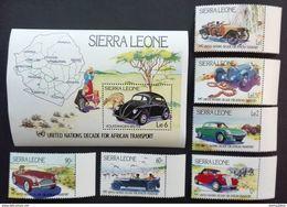 Sierra Leone 1984** Mi.752-57,bl.23 Cars MNH [21;36] - Voitures