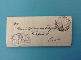 1937 LETTERA VIAGGIATA PER LA CITTA' ANNULLO REGIE POSTE GENIO CIVILE SERVIZIO GENERALE REGGIO CALABRIA - Storia Postale