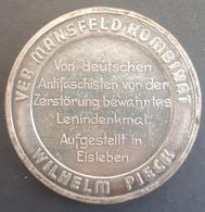 GERMANY OLD MEDAL - Willhem Picker Antifascists Militant In Eisleben - Preserved Lenin Memorial - Allemagne