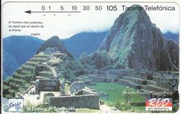 PERU(Tamura) - Machu Picchu/Cusco(0005), Entel/R.E.D. Telecard 105 Units, Tirage 10000, 01/94, Used - Peru