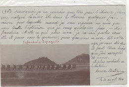 Spanische Infanterie - Gel. Pamplona - Frühe Fotokarte - 1904      (180722) - Navarra (Pamplona)