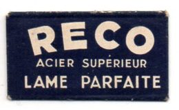 Lame De Rasoir Reco, Acier Supérieur. Razor Blade. - Lames De Rasoir