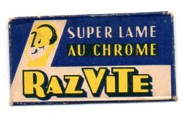 Lame De Rasoir Raz Vite, Super Lame Au Chrome. Razor Blade. - Lames De Rasoir