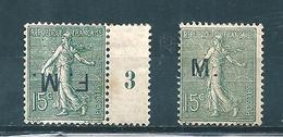 France Timbre De Franchise N°3 Fausse Surcharge - Militärpostmarken