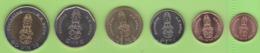 Thailand, Set Of Coins 2018, Coins Of Thailand UNC NEW - Thaïlande