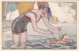 Die 12 Monate - 12 Signierte AK - Eine Für Jeden Monat - Sign. Mauzan - Top    (180722) - Mauzan, L.A.