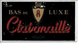 PLAQUE PUBLICITAIRE CLAIRMAILLE BAS De LUXE  ( Rhadiaceta NYLON De France ) En Verre Ou BaKélite -  Années 1950,1960 - Advertising (Porcelain) Signs