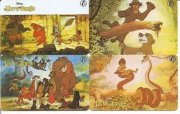 """4 Cartes Prépayées SEPA TELEPHONIQUE """" Disney - Le Livre De La Jungle """" - Disney"""