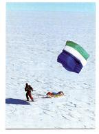 Carte De L' Expédition Laurence De La Ferrière - L' Antarctique En Solitaire - Pôle Sud - Terre Adélie 1999 - TAAF : Terres Australes Antarctiques Françaises