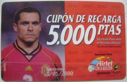AIRTEL - CUPON DE 5000 PTS - USADA 1ª CALIDAD LA DE LA FOTO - A698 - Spain
