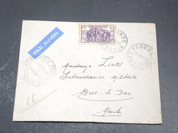 CAMEROUN - Enveloppe De Yaoundé Pour Bar Le Duc En 1939 , Contrôle Postal , Vignette Au Verso - L 20402 - Cameroun (1915-1959)
