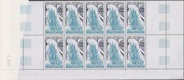 "TAAF 1988 Sailing Ship ""La Fortune""  1v Bl Of 10 (printing Date) ** Mnh (39650A) - Blocs-feuillets"