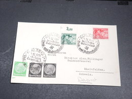 ALLEMAGNE - Enveloppe ( Devant ) De Karlsbad Pour La Suisse En 1938 - L 20417 - Allemagne