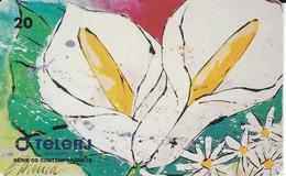TARJETA DE BRASIL DE UNA FLOR   (FLOR-FLOWER) TELERJ - Flores