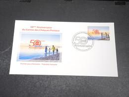 POLYNÉSIE - Enveloppe FDC En 2014 , Chèques Postaux - L 20432 - FDC