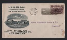 U.S.A. ADVERTISING BALTIMORE COLUMBUS FERTILIZER FRANKLIN INDIANA 1894 - Souvenirs & Special Cards