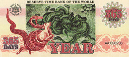 Banque Mondiale De Réserve Du Temps 365 Jours Série A-101 UNC - Specimen