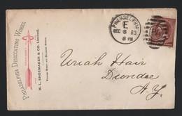 U.S.A. ADVERTISING PHILADELPHIA ARROW DESICCATING CHEMICAL FERTILIZER 1883 - Souvenirs & Special Cards