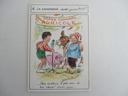 CPSM CP Cpa  ILLUSTRATEUR GERMAINE BOURET CAMPAGNE CONCOURS AGRICOLE ED MD SERIE 55/89 N°6/4 TBE Chers Auditeurs ... - Bouret, Germaine