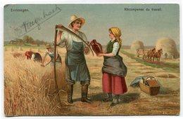 CPA - Carte Postale - Belgique - Récompense Du Travail - Travail Au Champ - 1904  ( CP4458 ) - Fermes