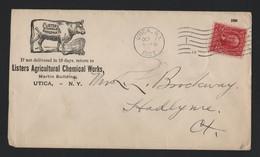 U.S.A. ADVERTISING LISTER'S AGRICULTURAL CHEMICAL BULL UTICA NEW YORK 1903 - Souvenirkaarten