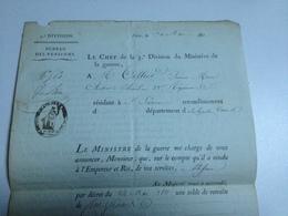 Bureau Des Pensions, 1811,Cent Franc De Retraite Pour Mr Cellier , St JUNIEN - Documents