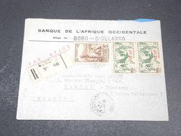 CÔTE D'IVOIRE - Enveloppe En Recommandé De Bobo Dioulasso Pour La France En 1945 - L 20449 - Ivory Coast (1892-1944)
