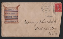 U.S.A. ADVERTISING WASHINGTON OHIO M.HAMM FERTILIZER 1908 - Souvenirs & Special Cards