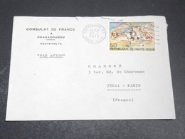 HAUTE VOLTA - Enveloppe Du Consulat De France à Ouagadougou Pour Paris En 1975 - L 20450 - Upper Volta (1958-1984)