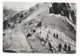 CARRARA - CAVE DI MARMO - TAGLIATA CON FILO ELICOIDALE - VIAGGIATA FG - Carrara