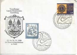 AUSTRIA 1980 HARD LANDES BRIEFMARKEN AUSSTELLUNG CISNE SWAN - Swans