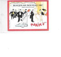 CARTE POSTALE PUB BEAUJOLAIS NOUVEAU 1987 - Advertising