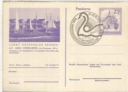AUSTRIA 1980 HARD LANDES BRIEFMARKEN AUSSTELLUNG CISNE SWAN ENTERO POSTAL VELA SAIL - Swans