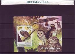 FAUNA, CUBA, AVES RAPACES, 2017, HOJA-BLOQUE, L361 - Águilas & Aves De Presa