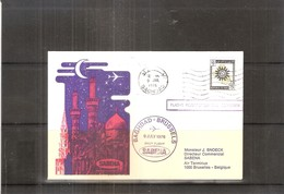 """First Flight SABENA Baghdad-Brussels 1976 - """"Flight Postponed"""" (to See) - Iraq"""