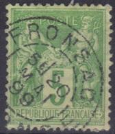 Fronsac (Gironde) : Cachet à Date Type 84 Sur Sage - Marcophilie (Timbres Détachés)