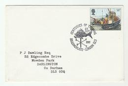 1981 BILLINGSGATE FISH MARKET Anniv EVENT COVER Fdc Gb Stamps Fish - Fishes