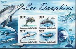 Burundi MNH Dolphins Imperforated Sheetlet - Dolphins