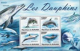 Burundi MNH Dolphins Sheetlet - Dolphins