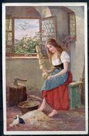 """CPA Color Jos.Süß Signierte Künstlerkarte Österreich,Austria Märchen """"Aschenbrödl Von Jos.Süß""""1 AK Blanco - Fairy Tales, Popular Stories & Legends"""