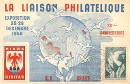 LA LIAISON PHILATELIQUE EXPOSITION 1946  20EM ANNIVERSAIRE - France