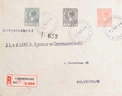 Holanda  SOBRE. Yv 154/56. 1924. Serie Completa EXPOSICION FILATELICA 1924. GRAVENHAGE A HILVERSUM. MAGNIFICA. Yvert 201 - Sin Clasificación