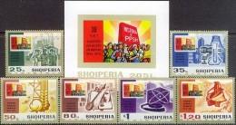 ALBANIA 1974, INDUSTRIES, COMPLETE, MNH SET + Bl. GOOD QUALITY - Albania
