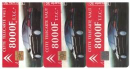LOT DE 3 TELECARTES CITROEN XANTIA DE 1994 - Frankreich