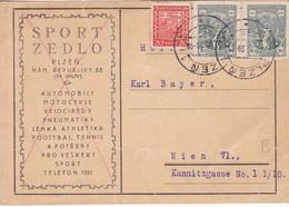 SPORT ZEDLO. PLZEN. CIRCULEE TCHECOSLOVAQUIE A WIEN . CIRCA 1929- BLEUP - Postkaarten