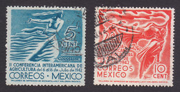 Mexico, Scott #778-779, Used, Sowing Wheat, Western Hemisphere Carrying A Torch, Issued 1942 - Mexique