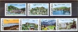 ALBANIA 1975, PLANES Over ALBANIAN CITIES And VIEWS, COMPLETE, MNH SET, GOOD QUALITY, *** - Albania