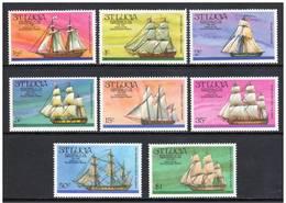 St. Lucia 1976  Mi.No. 372 - 379 Ships Schiffe Der Revolutionszeit 8v MNH ** - Ships