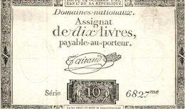 Billets >  France >  Assignats 10 Livres  (usé) - Assignats